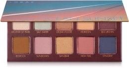 Духи, Парфюмерия, косметика Набор теней для век - Lorac Unzipped Ocean Sunset Eye Shadow Palette
