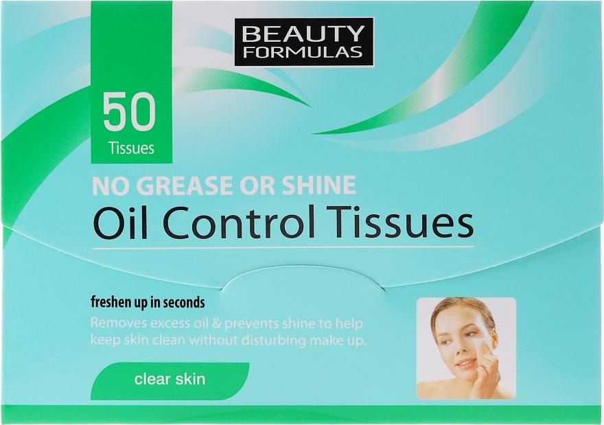 Матирующие салфетки для лица - Beauty Formulas Oil Control Tissues