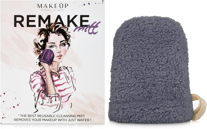 """Рукавичка для снятия макияжа, серая """"ReMake"""" - Makeup"""