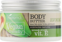 "Духи, Парфюмерия, косметика Масло для тела ""Авокадо"" - Bielenda Vegan Friendly Body Butter Avocado"