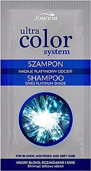 Шампунь нейтрализующий желтизну волос - Joanna Ultra Color System Shampoo (пробник)