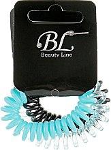 Духи, Парфюмерия, косметика Набор резинок для волос, 405004, черная+голубая+прозрачно-голубая - Beauty Line