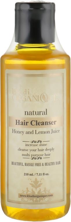 """Натуральный травяной аюрведический шампунь """"Мед и Лимон"""" - Khadi Organique Hair Cleanser Honey And Lemon Juice"""