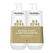 Духи, Парфюмерия, косметика Набор - Goldwell DualSense Rich Repair (shm/1000ml + cond/1000ml)
