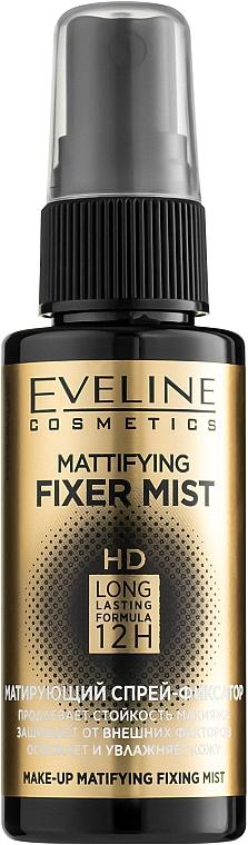 Матирующий спрей-фиксатор для макияжа - Eveline Cosmetics Mattifying Fixer Mist Full HD