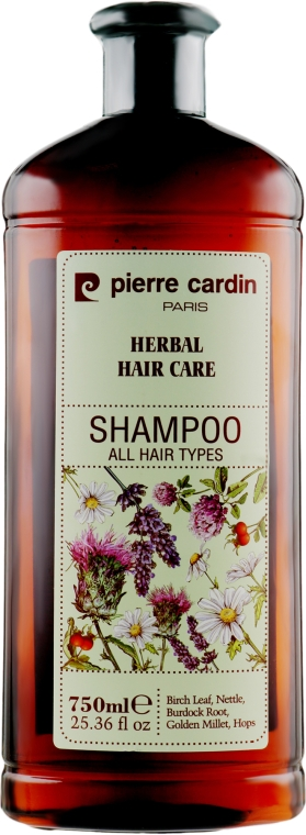 Травяной шампунь для всех типов волос - Pierre Cardin Herbal Shampoo For All Hair Types