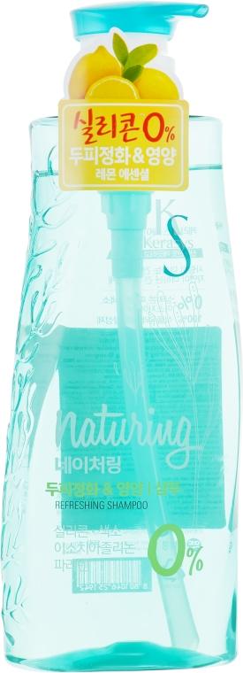 "Шампунь для волос ""Уход за кожей головы"" - KeraSys Naturing Refreshing Shampoo"