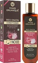 """Парфумерія, косметика Натуральний аюрведичний безсульфатний бальзам для зміцнення й росту волосся """"Червона цибуля"""" - Khadi Organique Red Onion Hair Conditioner"""