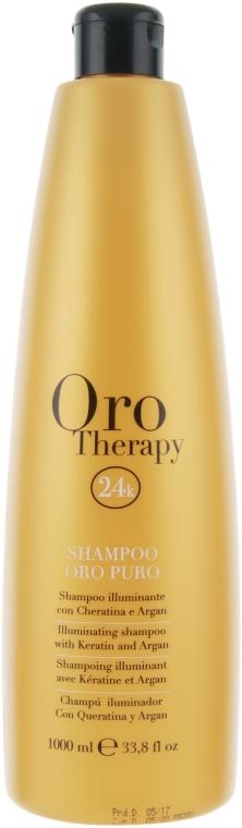 Увлажняющий шампунь с золотом - Fanola Oro Therapy Shampoo Oro Puro