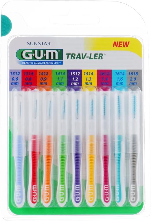 Набір міжзубних щіток - G.U.M Trav-Ler Mixed Pack — фото N1