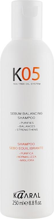 Шампунь для восстановления баланса секреции сальных желез - Kaaral К05 Sebum Balancing Shampoo — фото N2