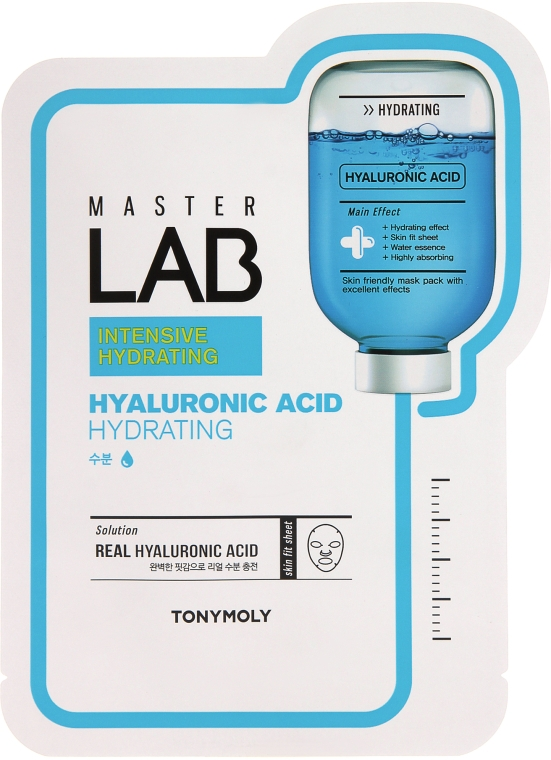 Тканевая маска для лица с гиалуроновой кислотой - Tony Moly Master Lab Hyaluronic Acid Mask