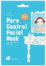 Духи, Парфюмерия, косметика Тканевая маска для лица сужающая поры - Cettua Pore Control Facial Mask