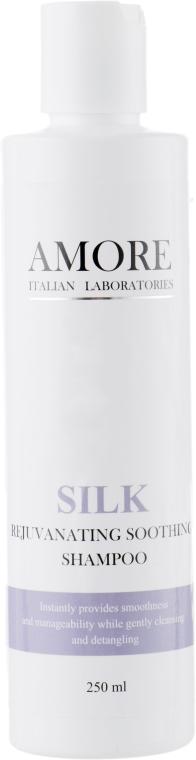 Восстанавливающий разглаживающий шампунь с протеинами шелка - Amore Silk Rejuvanating Soothing Shampoo