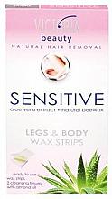 Духи, Парфюмерия, косметика Полоски для депиляции на теле и ногах - Victoria Beauty Sensitive Legs & Body Waxing Strips