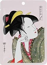 Духи, Парфюмерия, косметика Тканевая маска для лица с камелией и матча - Mitomo Camellia Flower Oil & Matcha Essence Mask
