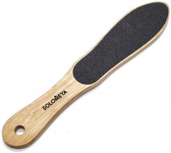 Духи, Парфюмерия, косметика Профессиональная деревянная педикюрная пилка в форме стопы 80/150 - Solomeya Professional Wooden Foot File 80/150
