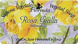 "Духи, Парфюмерия, косметика Мыло натуральное ""Желтая роза"" - Florinda Sapone Vegetale Vegetal Soap Yellow Rose"