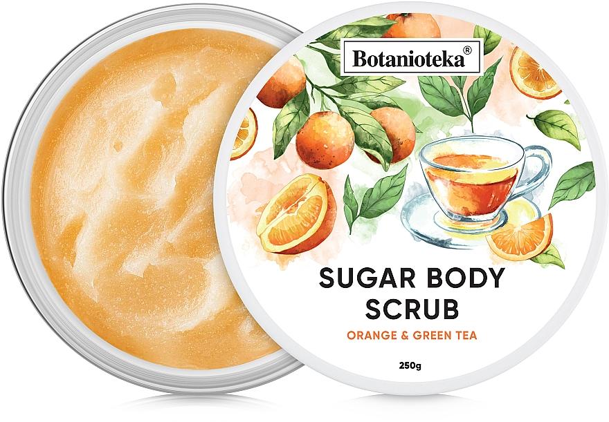 """Сахарный скраб для тела """"Апельсин и зеленый чай"""" - Botanioteka Sugar Body Scrub Orange & Green Tea"""