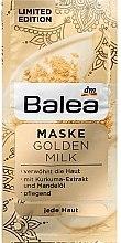 Духи, Парфюмерия, косметика Маска для лица c экстрактом куркумы, миндальным маслом и молоком - Balea Maske Golden Milk