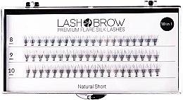 Духи, Парфюмерия, косметика Накладные ресницы - Lash Brown Premium Flare Silk Lashes Natural Short