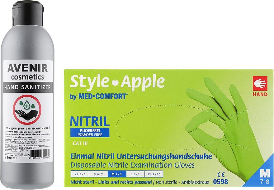 Набор - Avenir Cosmetics M (h/gl/100pcs+h/san/300ml)