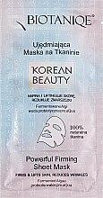 Духи, Парфюмерия, косметика Тканевая маска для лица укрепляющая - Maurisse Biotaniqe Korean Beauty Powerful Firming Sheet Mask