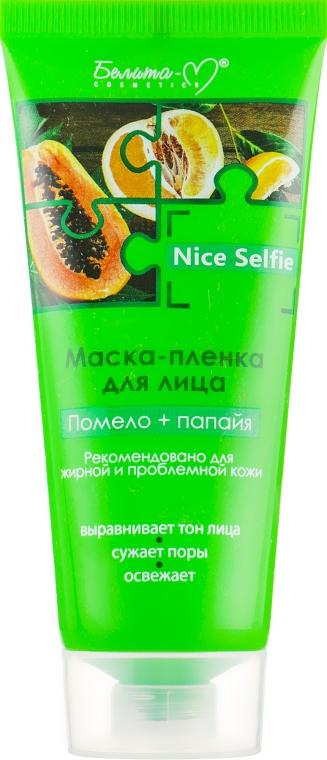 """Маска-пленка для лица """"Помело + папайя"""" - Белита-М Nice Selfie"""