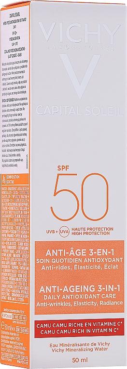 Солнцезащитный крем для лица - Vichy Ideal Soleil Anti-Agening Care SPF50