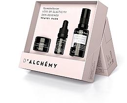 Духи, Парфюмерия, косметика Набор - D'Alchemy Loss of Elasticity Skin Renewer Travel Pack (f/cr/15ml + f/oil/5ml + mic/water/30ml)