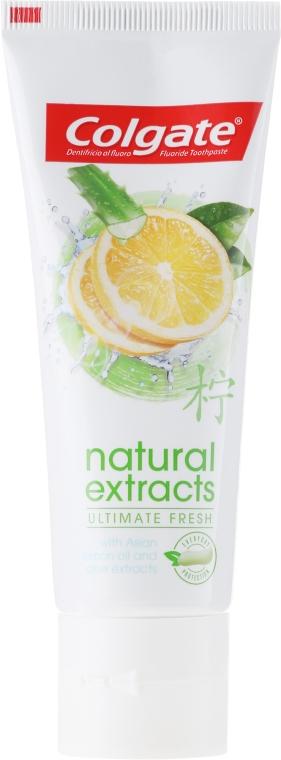 "Зубная паста ""Безупречная свежесть"" - Colgate Natural Extracts Ultimate Fresh Lemon — фото N2"