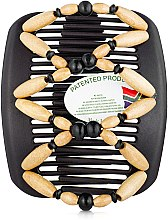 Духи, Парфюмерия, косметика Заколка для волос Beada 002, на черных гребнях - African Butterfly Hair Clip