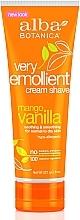 Парфумерія, косметика Крем для гоління - Alba Botanica Natural Very Emollient Creme Shave Mango Vanilla