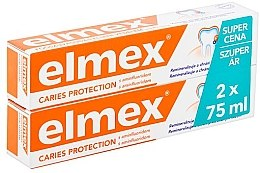 Духи, Парфюмерия, косметика Набор - Elmex Toothpaste Caries Protection (toothpaste/2x75ml)