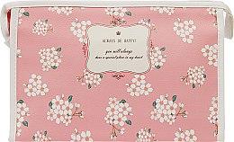 "Духи, Парфюмерия, косметика Косметичка ""Always be happy"", розовая с белыми цветами - Элита"
