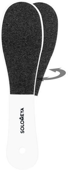 Шлифовочная двусторонняя педикюрная пилка 100/180 грит - Solomeya Personal Gadget Black