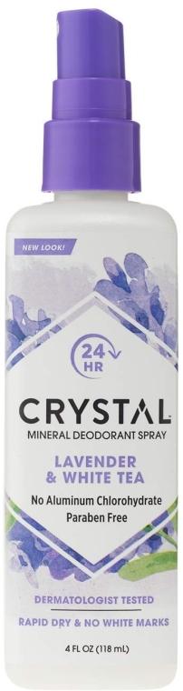 Дезодорант-спрей с ароматом Лаванды и Белого чая - Crystal Essence Deodorant Body Spray