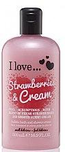 Духи, Парфюмерия, косметика Крем для душа и пена для ванны - I Love... Strawberries & Cream Bubble Bath And Shower Creme