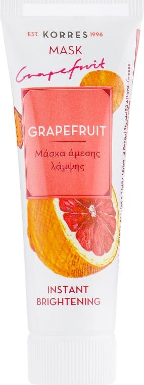 "Мгновенная осветляющая маска ""Грейпфрут"" - Korres Grapefruit Instant Brightening Face Mask"