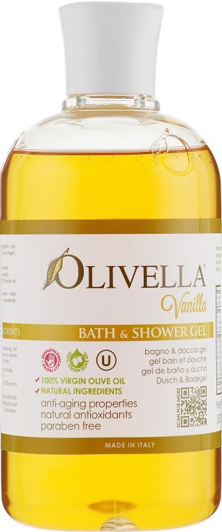 """Гель для душа """"Ваниль"""" на основе оливкового масла - Olivella Vanilla Bath & Shower Gel"""