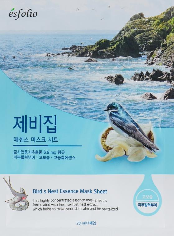 """Тканевая маска """"Экстракт ласточкиного гнезда"""" - Esfolio Essence Mask Sheet"""