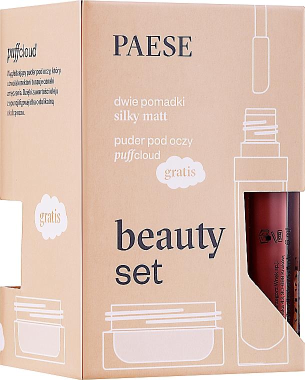 Набор - Paese (lipstick/2x6ml + f/powder/5.3g)