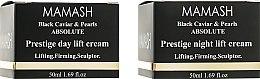 Духи, Парфюмерия, косметика Набор - Mamash Organic Black Caviar & Pearls Absolute (day/cr/50ml + night/cr/50ml)