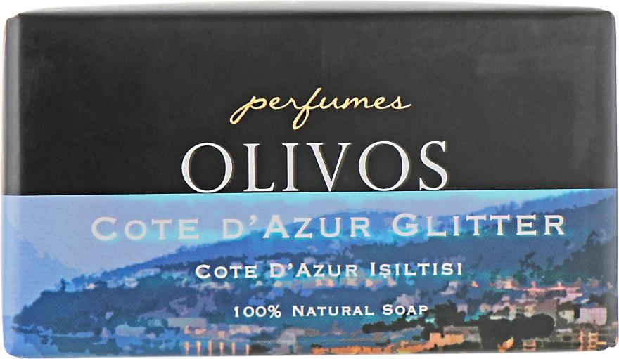 "Натуральное оливковое мыло ""Побережье Кот-д'Азур"" - Olivos Perfumes Cote Dazur Glitter"