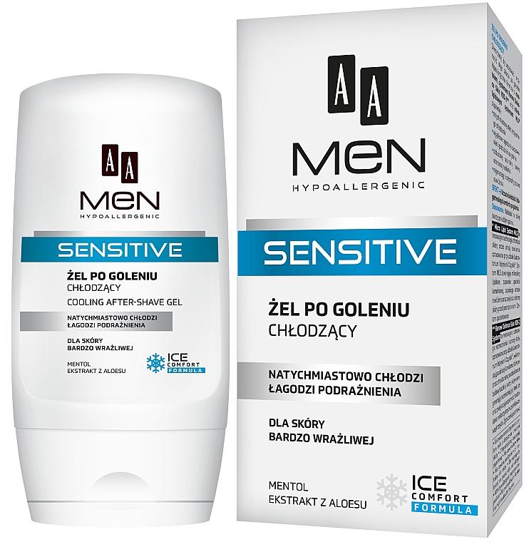 Гель после бритья - AA Men Sensitive After-Shave Gel Cooling