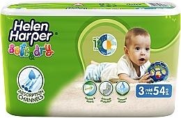 Духи, Парфюмерия, косметика Подгузники для детей Soft & Dry Midi 3 (4-9 кг), 54 шт - Helen Harper