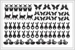 Духи, Парфюмерия, косметика Трафарет для ногтей D-04 - Adore Professional Deep Design D-04