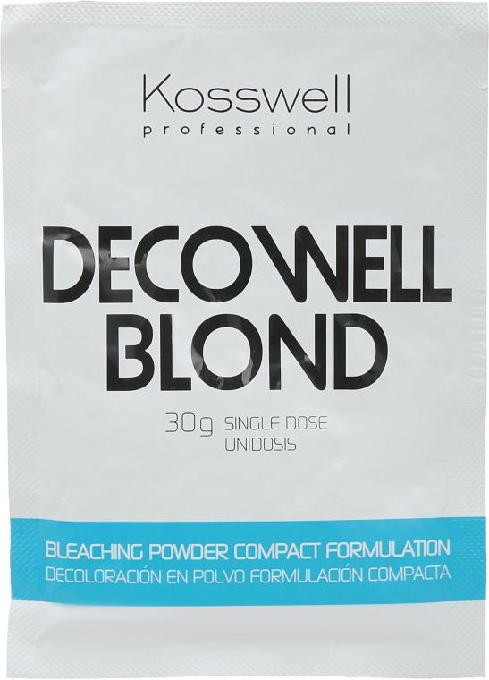 Осветляющий порошок, голубой - Kosswell Professional Decowell Blond