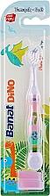 Духи, Парфюмерия, косметика Детская зубная щетка, фиолетовая, мягкая - Banat Dino Toothbrush