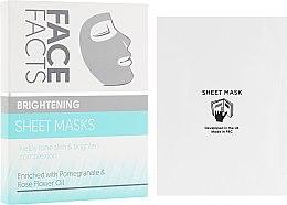 Духи, Парфюмерия, косметика Тканевая маска для лица - Face Facts Brightening Sheet Face Mask